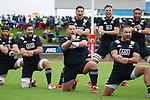 Heiden Bedwell-Curtis (L), Mitchell Crosswell, Brendon Edmonds, Matt Proctor, (back row) Otere Black, Jacob Skeen, Joe Edwards. Maori All Blacks vs. Fiji. Suva. MAB's won 27-26. July 11, 2015. Photo: Marc Weakley