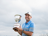 Sergio Garcia (ESP) during prize giving on the 18th green during the final round at the KLM Open, The International, Amsterdam, Badhoevedorp, Netherlands. 15/09/19.<br /> Picture Stefano Di Maria / Golffile.ie<br /> <br /> All photo usage must carry mandatory copyright credit (© Golffile | Stefano Di Maria)