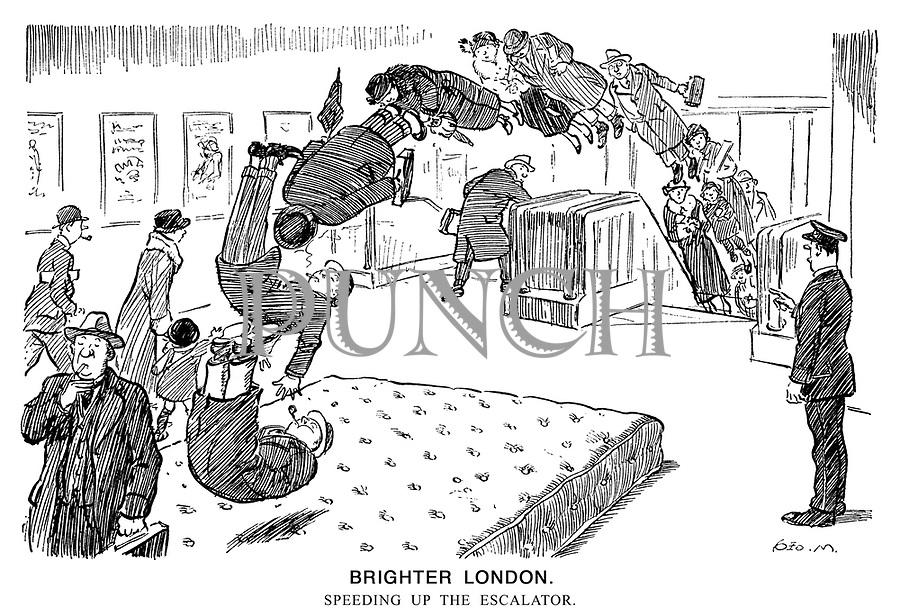Brighter London. Speeding up the escalator.