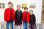 Rian O'Carroll, Ava Hanley, Dylan O'Carroll and Sive Hanley from Tralee, attending Snow White at Siamsa Tire on Saturday night.