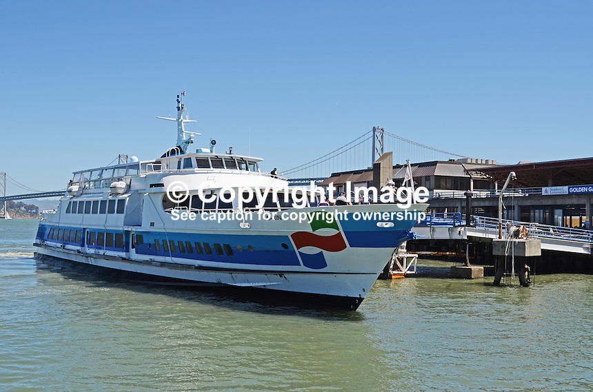 Ferry boat, Marin, San Francisco, California, USA, 201304131463<br /> <br /> Copyright Image from Victor Patterson, 54 Dorchester Park, Belfast, UK, BT9 6RJ<br /> <br /> Tel: +44 28 9066 1296<br /> Mob: +44 7802 353836<br /> Voicemail +44 20 8816 7153<br /> Skype: victorpattersonbelfast<br /> Email: victorpatterson@me.com<br /> Email: victorpatterson@ireland.com (back-up)<br /> <br /> IMPORTANT: If you wish to use this image or any other of my images please go to www.victorpatterson.com and click on the Terms &amp; Conditions. Then contact me by email or phone with the reference number(s) of the image(s) concerned.