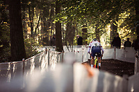 race leader and later winner Thomas Pidcock (GBR)<br /> <br /> UEC CYCLO-CROSS EUROPEAN CHAMPIONSHIPS 2018<br /> 's-Hertogenbosch – The Netherlands<br /> Men U23 Race