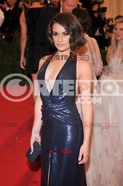 Lea Michele at the 'Schiaparelli And Prada: Impossible Conversations' Costume Institute Gala at the Metropolitan Museum of Art on May 7, 2012 in New York City. ©mpi03/MediaPunch Inc.