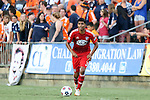 09 July 2014: Dallas' Moises Hernandez. The Carolina RailHawks of the North American Soccer League played FC Dallas of Major League Soccer at WakeMed Stadium in Cary, North Carolina in the quarterfinals of the 2014 Lamar Hunt U.S. Open Cup soccer tournament. FC Dallas won the game 5-2.