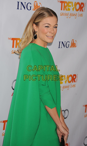 LeAnn Rimes.Trevor Live at The Hollywood Palladium in Hollywood, California, USA..December 4th, 2011.half length dress green clutch bag side black.CAP/ROT/TM.©Tony Michaels/Roth Stock/Capital Pictures