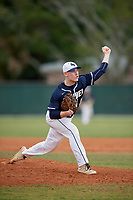 Bethel Wildcats starting pitcher Ty Koehn (6) during the second game of a double header against the Edgewood Eagles on March 15, 2019 at Terry Park in Fort Myers, Florida.  Bethel defeated Edgewood 3-2.  (Mike Janes/Four Seam Images)