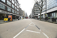 View of Baker Street. The deserted streets show the severe effects of the COVID-19 epidemic on London on the morning of 19th March 2020