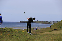 Thomas Detry (BEL) plays his 2nd shot on the 6th hole during Thursday's Round 1 of the Dubai Duty Free Irish Open 2019, held at Lahinch Golf Club, Lahinch, Ireland. 4th July 2019.<br /> Picture: Eoin Clarke | Golffile<br /> <br /> <br /> All photos usage must carry mandatory copyright credit (© Golffile | Eoin Clarke)