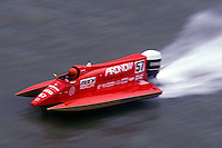 Ben Robertson (#57) USFORA Formula One (F1) Tunnel Boats, Cincinnati, Ohio 1989