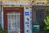 France, Bouches-du-Rhône (13), Marseille, capitale européenne de la culture 2013, Callelongue (Parc National des Calanques depuis le 18/04/2012), détail cabanon   // France, Bouches du Rhone, Marseille, european capital of culture 2013, Callelongue (Calanques National Park since 2012/04/18)