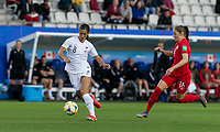 GRENOBLE, FRANCE - JUNE 15: Abby Erceg #8 of the New Zealand National Team controls the ball during a game between New Zealand and Canada at Stade des Alpes on June 15, 2019 in Grenoble, France.