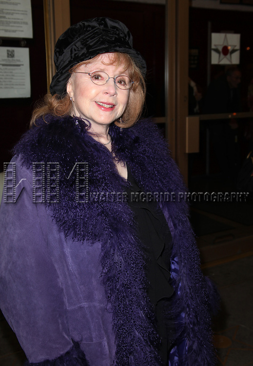 Piper Laurie (Star of the movie 'Carrie') .attending the First Preview Off-Broadway Performance of the MCC Production of 'Carrie' at the Lucille Lortel Theatre in New York City.1/31/2012..