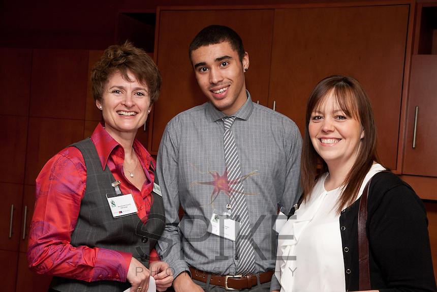 Council member Alison Rayner of Initial Design meets Yannis Hendry and Teresa Henson of Bytem