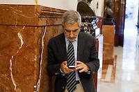 Gaspar Llamazares deputie of Izquierda Plural group