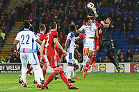 Jaime Penedo of Panama punches the ball away from the box during the corner during the International Friendly match between Wales and Panama at The Cardiff City Stadium, Wales, UK. Tuesday 14 November 2017