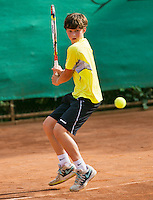August 4, 2014, Netherlands, Dordrecht, TC Dash 35, Tennis, National Junior Championships, NJK,  Floris Podzimek (NED)<br /> Photo: Tennisimages/Henk Koster