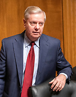 United States Senator Lindsey Graham (Republican of South  Carolina), Chairman, United States Senate Committee on the Judiciary, arrives to hear testimony from Daniel P. Collins and Kenneth Kiyul Lee on their nominations to be United States Circuit Judge For The Ninth Circuit on Capitol Hill in Washington, DC on Wednesday, March 13, 2019.<br /> Credit: Ron Sachs / CNP/AdMedia