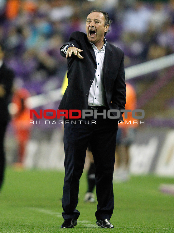 Real Valladolid's coach Juan Ignacio Martinez during La Liga match.August 31,2013. Foto © nph / Acero)