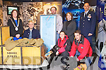 Pictured at the presentation of a sleeping bag and medals to the Kerry County Museum on Friday are from left: Grace O'Donnell, Mark Pollock, Mike O'Shea, Pauliina Kauppila, Helen O'Carroll, Michael Grant, and Ronnie Smith.