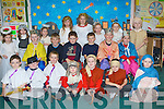 SCHOOL PLAY: Students of Derryquay NS doing their school Christmas play on Thursday front l-r: Donal Crean, Finn Brosnan, Patrick O'Shea, Colin Doody, Gavin Doody, Sean Fitzgibbon and Kate Mulgrew. Seated l-r: Luke Murphy, Cian Wall, Padraig Crean, Cathal Fitzgibbon, Da?ire Kennelly and Dylan Keane. Back l-r: Ciara Fitzgibbon, Clodagh Houlihan, Judith Waugh, Isabelle Lynch, Aime?e Byrne, Saoirse O'Shea, Aoife Murphy and Darach Gallagher.   Copyright Kerry's Eye 2008