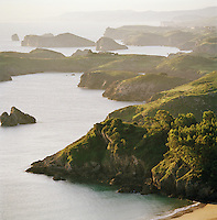 Cliffs and coastline of the Asturias, Spain