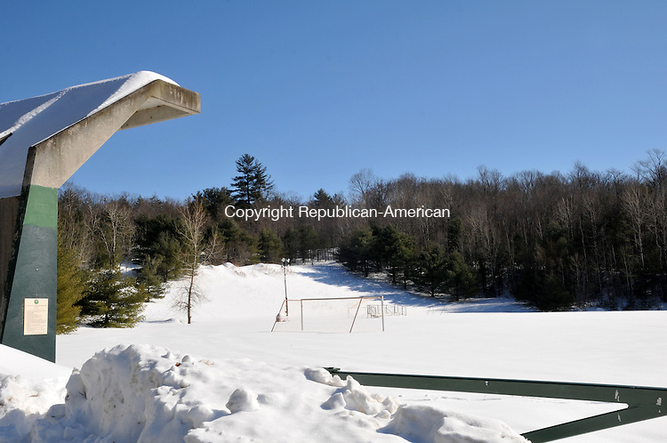 TORRINGTON, CT, 27 FEB 15 - A disc golf course has been proposed for a wooded area at Alvord Park past the soccer fields.   Alec Johnson/ Republican-American