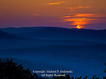 Sunset over Sount Mountain from Pole Steeple, Michaux State Forest, Pennsylvania