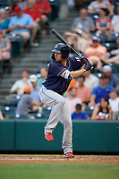Binghamton Rumble Ponies Patrick Mazeika (19) at bat during an Eastern League game against the Richmond Flying Squirrels on May 29, 2019 at The Diamond in Richmond, Virginia.  Binghamton defeated Richmond 9-5 in ten innings.  (Mike Janes/Four Seam Images)