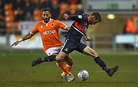 Blackpool's Liam Feeney battles for the ball<br /> <br /> Photographer Dave Howarth/CameraSport<br /> <br /> The EFL Sky Bet League One - Blackpool v Doncaster Rovers - Tuesday 12th March 2019 - Bloomfield Road - Blackpool<br /> <br /> World Copyright © 2019 CameraSport. All rights reserved. 43 Linden Ave. Countesthorpe. Leicester. England. LE8 5PG - Tel: +44 (0) 116 277 4147 - admin@camerasport.com - www.camerasport.com