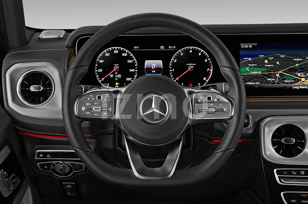 Car pictures of steering wheel view of a 2019 Mercedes Benz G-Class G-550 5 Door SUV Steering Wheel