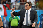 15 July 2015: Mexico head coach Miguel Herrera (MEX). The Mexico Men's National Team played the Trinidad & Tobago Men's National Team at Bank of America Stadium in Charlotte, NC in a 2015 CONCACAF Gold Cup Group C match. The game ended in a 4-4 tie.