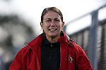 04 October 2014: Louisville assistant coach Natalie Cocchi. The Duke University Blue Devils hosted the University of Louisville Cardinals at Koskinen Stadium in Durham, North Carolina in a 2014 NCAA Division I Women's Soccer match. The game ended in a 0-0 tie after double overtime.