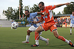 19 May 2012: Carolina's Austin King (15) and Puerto Rico's Jonathan Fana (DOM) (left). The Carolina RailHawks and the Puerto Rico Islanders played to a 1-1 tie at WakeMed Soccer Stadium in Cary, NC in a 2012 North American Soccer League (NASL) regular season game.