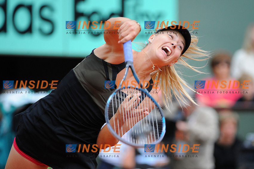 Maria Sharapova Russia.Parigi 09/06/2012 Roland Garros.Tennis Grande Slam Finali..Foto Insidefoto / Bouyer / Tennismag / Panoramic.ITALY ONLY.