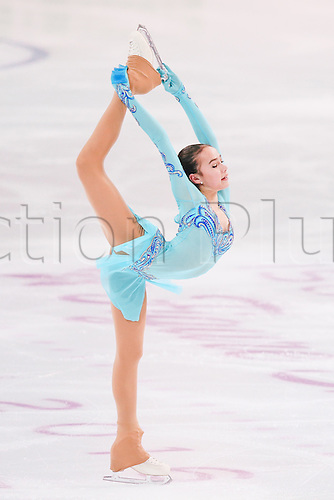 08.12.2016. Palais Omnisports, Marseille, France. ISU Junior Figure Skating Grand Prix Final.  Alina Zagitova (RUS) competes in the Women's Short Program.