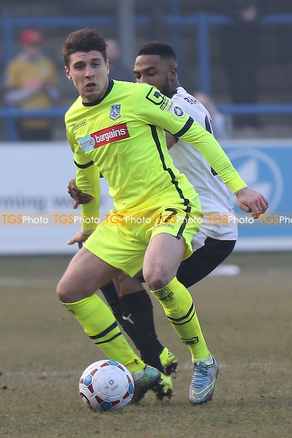 Adam Mekki of Tranmere Rovers in action during Dover Athletic vs Tranmere Rovers, Vanarama National League Football at the Crabble Athletic Ground on 12th March 2016