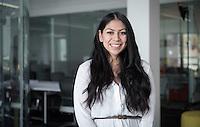 Karen Medina '13 - Portrait taken for Hameetman Career Center (HCC) brochure, March 3, 2016.<br /> (Photo by Marc Campos, Occidental College Photographer)