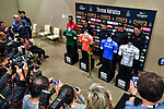 Top riders press conference in Lido di Camaiore start venue ahead of the 54th Tirreno-Adriatico 2019 stage race, Italy. 12th March 2019.<br /> Picture: LaPresse/Gian Mattia D'Alberto | Cyclefile<br /> <br /> <br /> All photos usage must carry mandatory copyright credit (© Cyclefile | LaPresse/Gian Mattia D'Alberto)