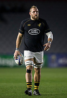 Wasps' James Haskell during the pre match warm up<br /> <br /> Photographer Bob Bradford/CameraSport<br /> <br /> European Rugby Challenge Cup - Harlequins v Wasps - Sunday 13th January 2018 - Twickenham Stoop - London<br /> <br /> World Copyright &copy; 2018 CameraSport. All rights reserved. 43 Linden Ave. Countesthorpe. Leicester. England. LE8 5PG - Tel: +44 (0) 116 277 4147 - admin@camerasport.com - www.camerasport.com