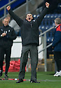 :: DUNFERMLINE MANAGER JIM MCINTYRE CELEBRATES AT THE END OF THE GAME ::