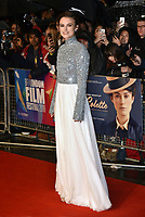 Keira Knightley<br /> Colette film screening at BFI London Film Festival<br /> In Leicester Square, London, England on October 11, 2018.<br /> CAP/PL<br /> ©Phil Loftus/Capital Pictures /MediaPunch ***NORTH AND SOUTH AMERICAS ONLY***