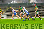 Colm Harty Kerry controls the ball under pressure from Barry coughlan Waterford during their clash in Fitzgerald Stadium on Saturday