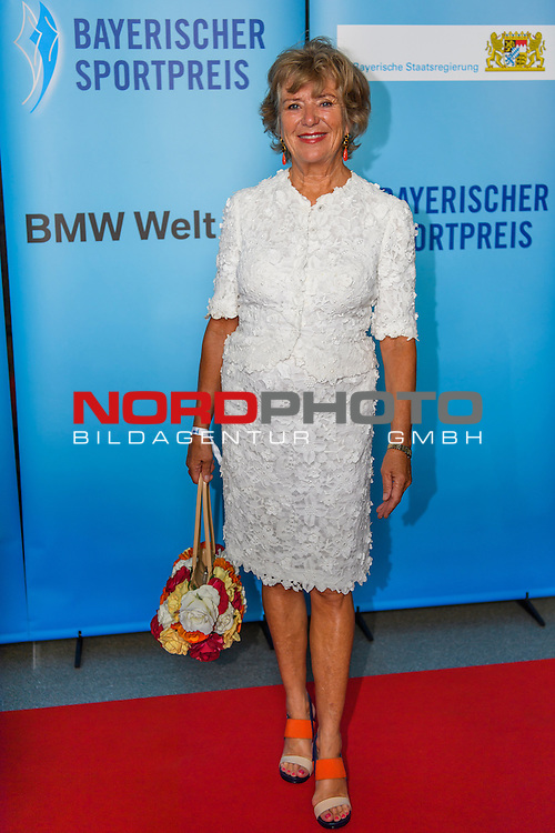 16.07.2016, BMW Welt, Muenchen, GER, Bayerische Sportpreis 2016, im Bild Jutta Speidel<br /> <br />  Foto &copy; nordphoto / Straubmeier