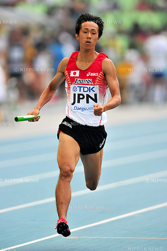 Kei Takase (JPN),SEPTEMBER 1, 2011 - Athletics :The 13th IAAF World Championships in Athletics - Daegu 2011, Men's 4x400m Relay Round 1 at the Daegu Stadium, Daegu, South Korea. (Photo by Jun Tsukida/AFLO SPORT) [0003]
