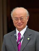 Yukiya Amano (Japan), Director General of the International Atomic Energy Agency (IAEA) arrives for the working dinner for the heads of delegations at the Nuclear Security Summit on the South Lawn of the White House in Washington, DC on Thursday, March 31, 2016.<br /> Credit: Ron Sachs / Pool via CNP