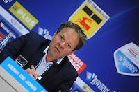 VOETBAL: LEEUWARDEN: 26-10-2014, Canbuurstadion, Cambuur - Feyenoord, uitslag 0-1, Henk de Jong (trainer Cambuur), ©foto Martin de Jong