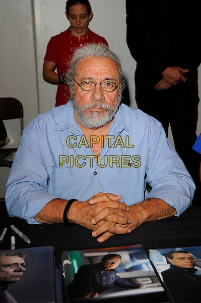 LONDON, ENGLAND - JULY 12: Edward James Olmos attending London Film and Comic Con 2014 at Earls Court on July 12, 2014 in London, England.<br /> CAP/MAR<br /> &copy; Martin Harris/Capital Pictures