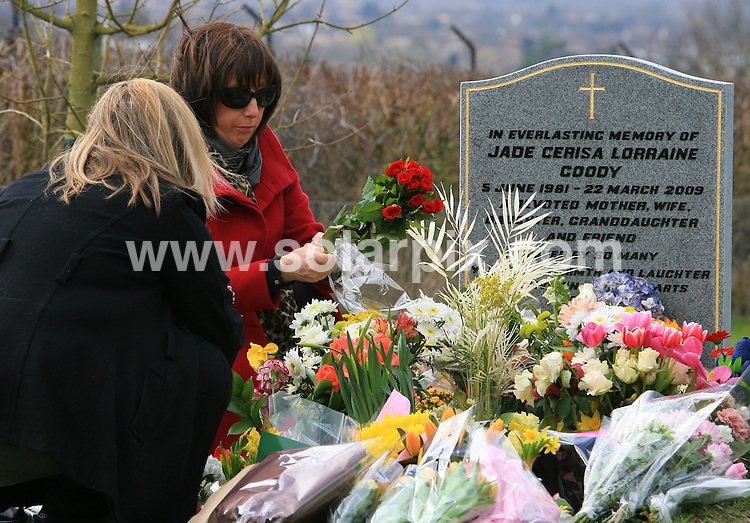 **ALL ROUND PICTURES FROM SOLARPIX.COM**.**WORLDWIDE SYNDICATION RIGHTS**.Jack Tweed's mother, Mary Tweed arrives at Jade Goody's grave in Upshire, Essex on Monday 22 March 2010. The Big Brother reality TV star died of cervical cancer at the age of 27 on Mother's Day 2009, leaving two young sons. Her battle with cancer caused a public outcry for cervical screenings and vaccinations for younger women. A year ago today, marks the official day that she passed away..This pic:   Jack Tweed.JOB REF:   10957   LNJ     DATE:   22.03.10.**MUST CREDIT SOLARPIX.COM OR DOUBLE FEE WILL BE CHARGED**.**MUST NOTIFY SOLARPIX OF ONLINE USAGE**.**CALL US ON: +34 952 811 768 or LOW RATE FROM UK 0844 617 7637**