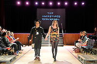 The Underclass Merchant, New Zealand Eco Fashion Exposed Maintain &amp; Sustain at Notre Dame Performing Arts Centre, Lower Hutt, New Zealand on Friday 25 July 2014. <br /> Photo by Masanori Udagawa. <br /> www.photowellington.photoshelter.com.