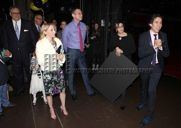 Douglas Carter Beane, Jill Furman, Mark Brokaw, Robyn Goodman & Josh Rhodes attending The Broadway Opening Night Performance Gypsy Robe Ceremony honoring recipient Linda Mugleston for  'Rogers + Hammerstein' s Cinderella' at the Broadway Theatre in New York City on 3/3/2013